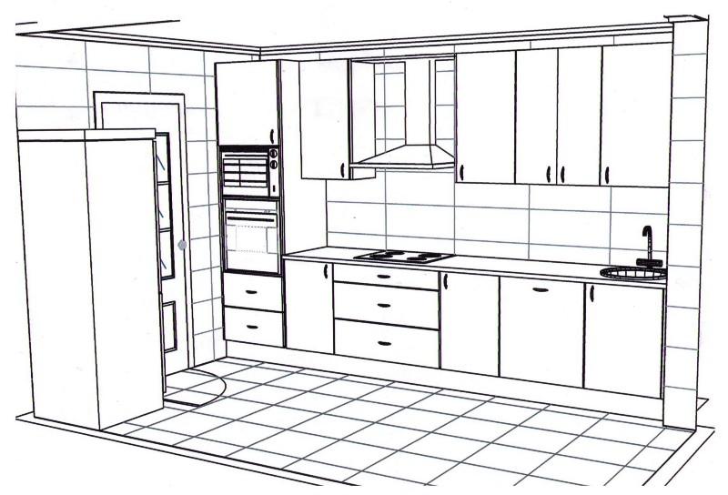 Dibujos de cocinas imagui for Dibujos para cocinas integrales