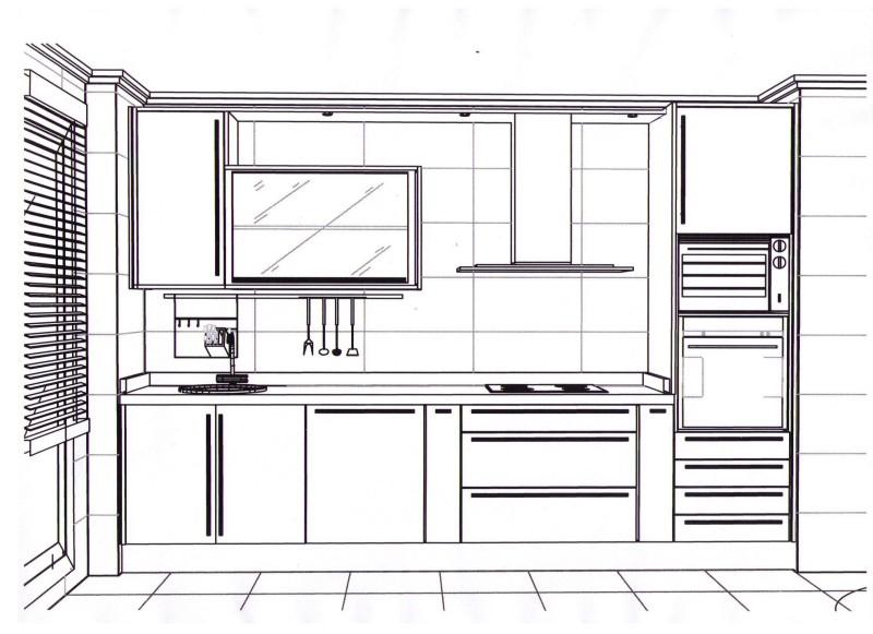 Dibujo de cocinas dise os arquitect nicos for Programa para disenar cocinas gratis online