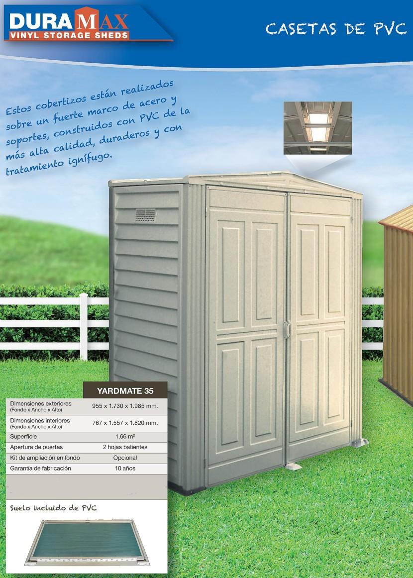 Bricovalle catalogo duramax y suncast casetas for Cobertizos y casetas