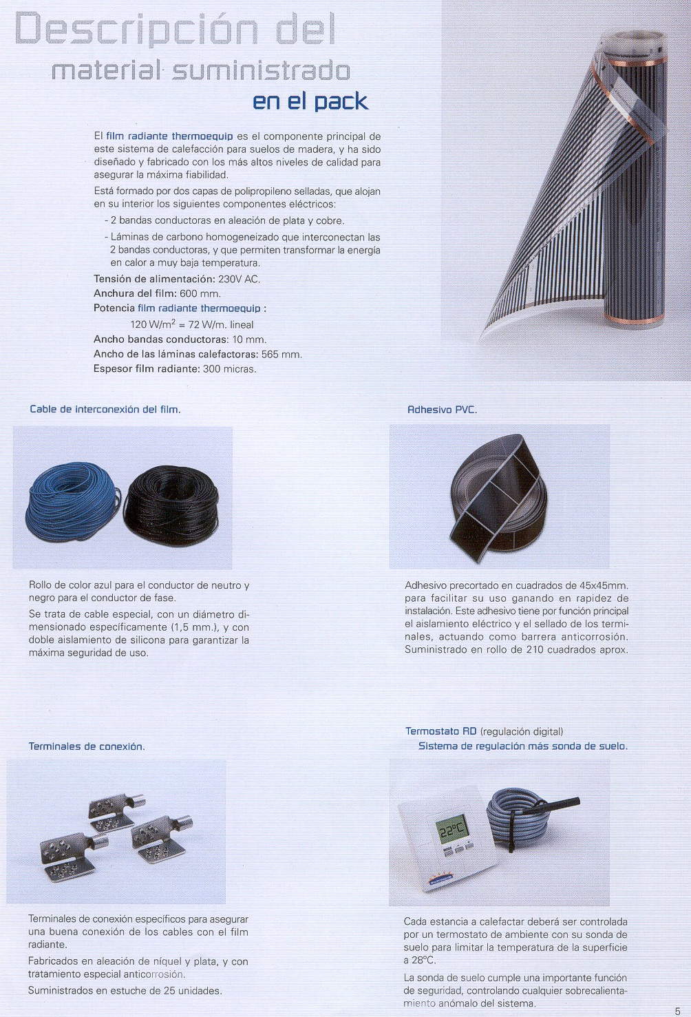Suelo radiante thermoequip th 10 hasta 10 m2 1080 w 380 00 zurione - Material suelo radiante ...