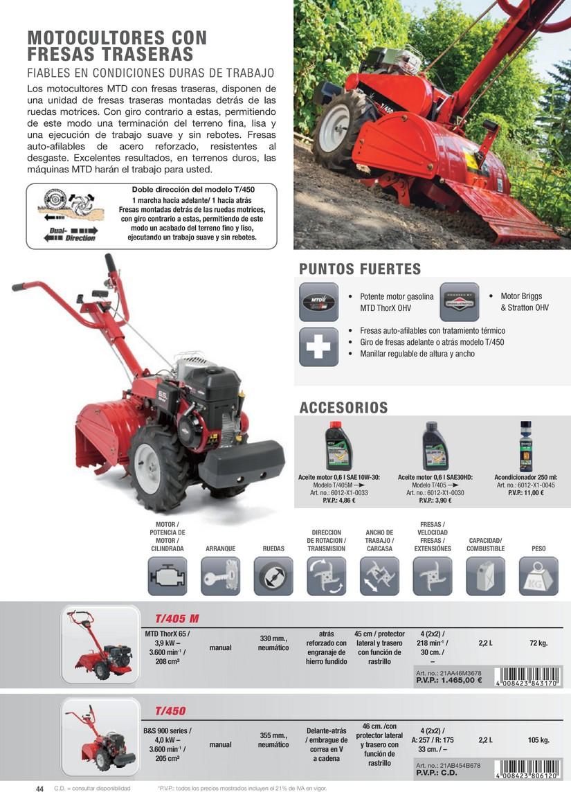 Bricovalle catalogo mtd maquinaria y accesorios de for Catalogue de jardinerie