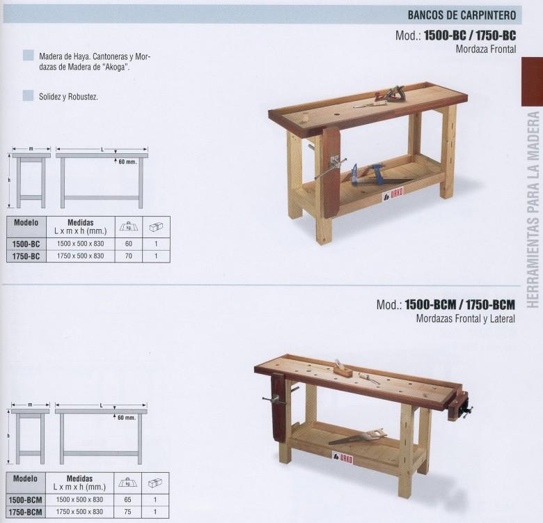 Bricovalle catalogo urko bancos de trabajo de for Carpintero de madera