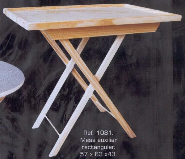 1081 mesa auxiliar rectangular 1081 auxiliares - Muebles auxiliares montemayor ...