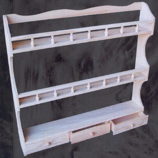 1091a repisa 3 estantes 3 cajones montemayor 1091a for Complementos cocina
