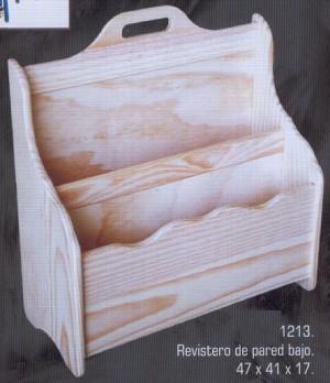 Revisteros muebles de pino macizo 1213 revistero de - Revisteros de pared ...
