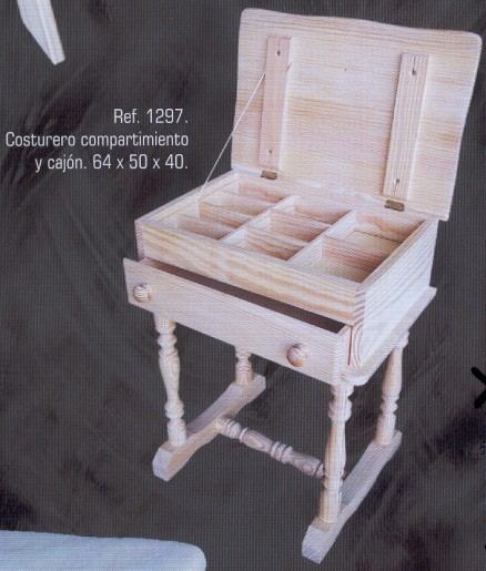 1297 costurero compartimiento y cajon 1297 auxiliares - Muebles auxiliares montemayor ...