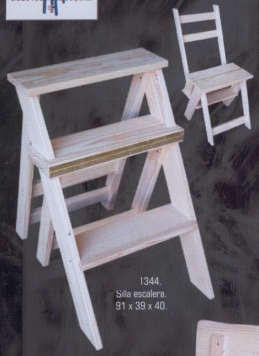 1344 silla escalera 1344 auxiliares muebles de pino - Muebles montemayor ...