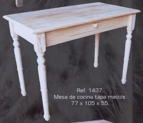 1437 mesa de cocina tapa maciza 1437 mesas muebles - Muebles montemayor ...