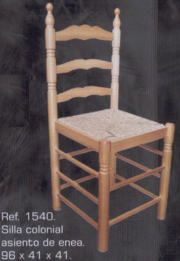 1540 silla colonial asiento de enea 1540 sillas - Muebles montemayor ...