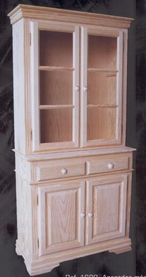 1680 aparador con vitrina 2 cuerpos