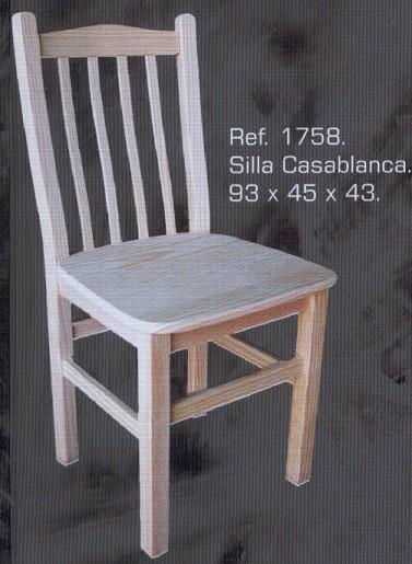 1758 silla casablanca 1758 sillas muebles de pino - Muebles montemayor ...
