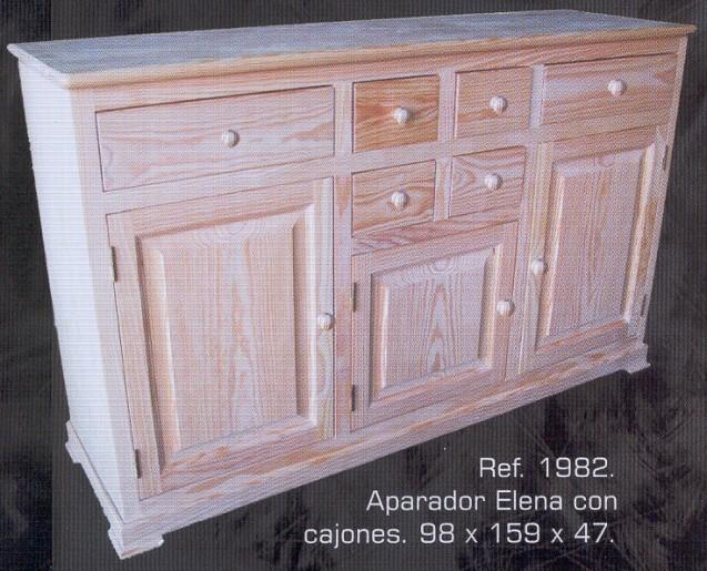 1982 aparador elena con cajones 1982 aparadores - Muebles montemayor ...