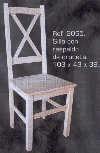 2065 silla con respaldo de cruceta 2065 sillas - Muebles montemayor ...