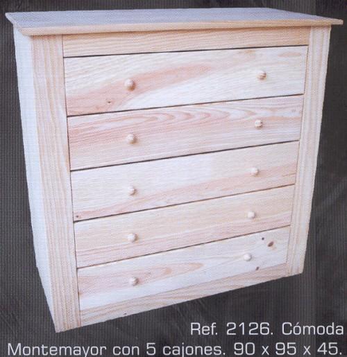 2126 comoda montemayor con 5 cajones 2126 comodas y - Muebles montemayor ...