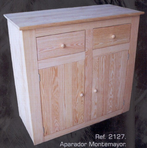 Aparadores muebles de pino macizo muebles 1162 - Muebles auxiliares montemayor ...
