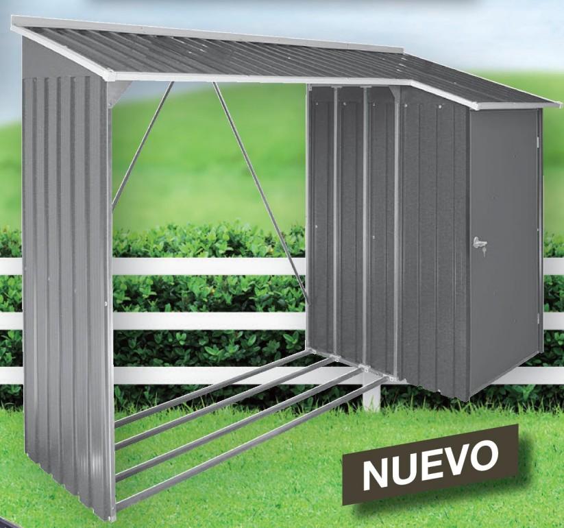 Casetas y cobertizos de metal jardin titan cobertizo for Casetas para guardar bicicletas
