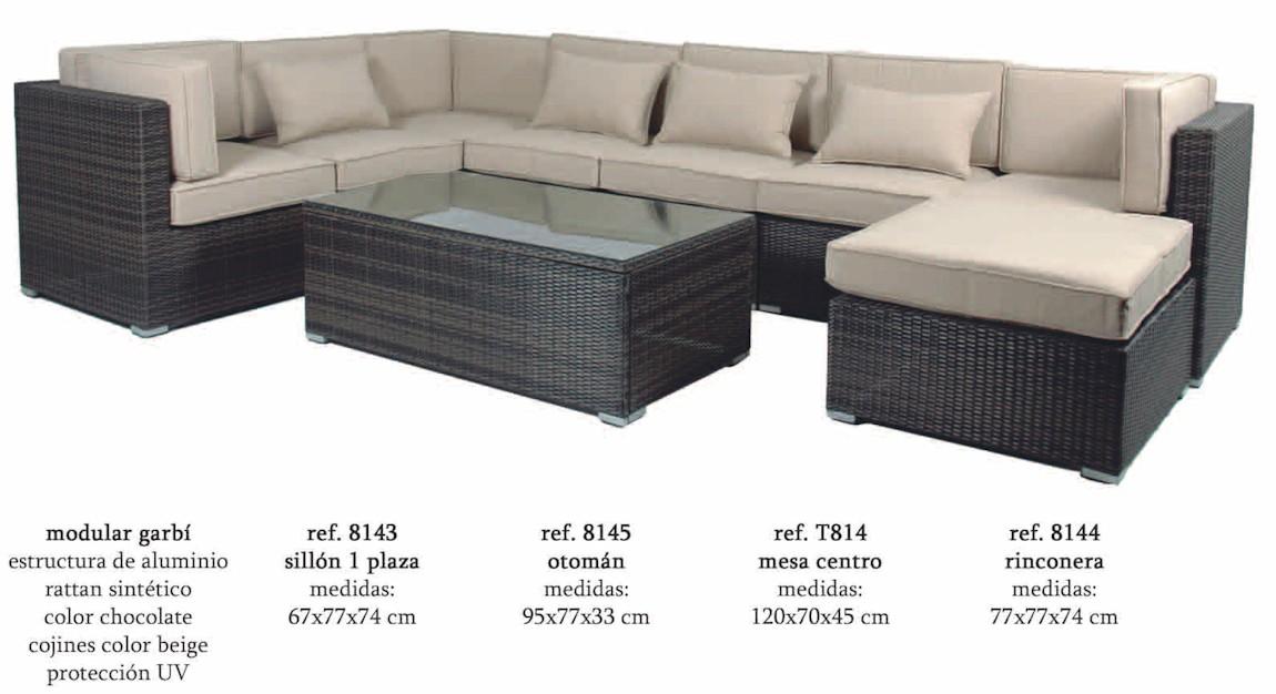 Modular garbi almar garbi2 conjuntos sofa muebles de for Sofa modular jardin