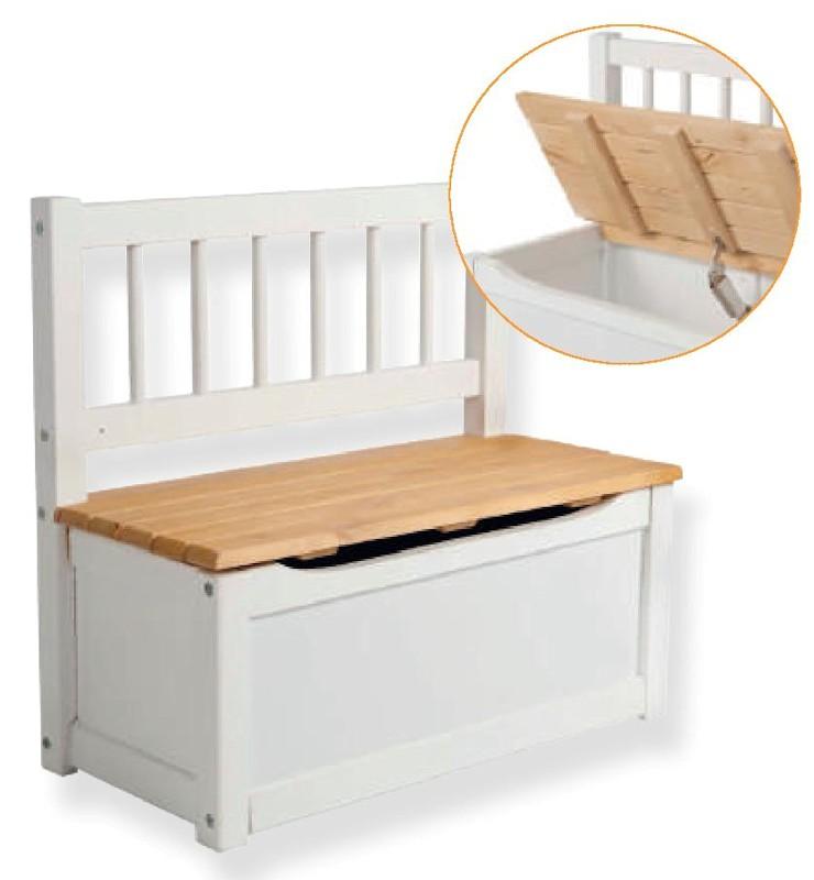 Banco baul infantil aranaz 20306 infantil hogar de for Baul madera infantil