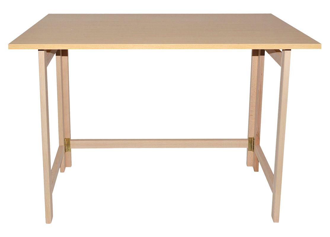 Mesa plegable madera aranaz 7015 sillas y mesas for Mesa plegable sillas incorporadas