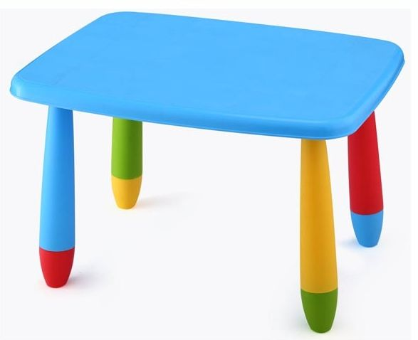 Mesa infantil rectangular Colores