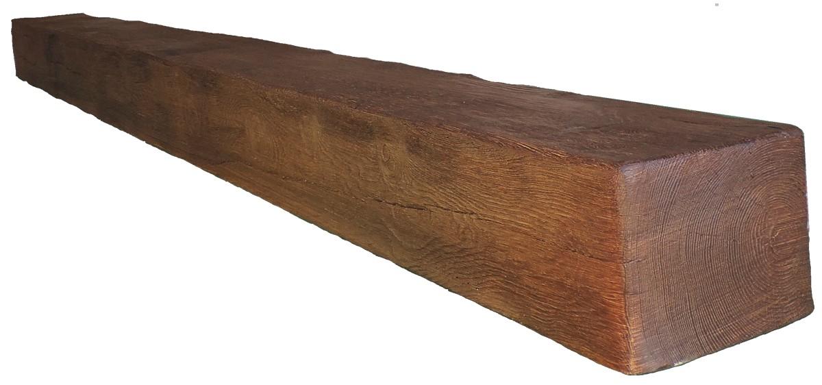 Viga rustica cuadrada 3 m ref 1901 decormur 1901 vigas for Vigas de madera para jardin