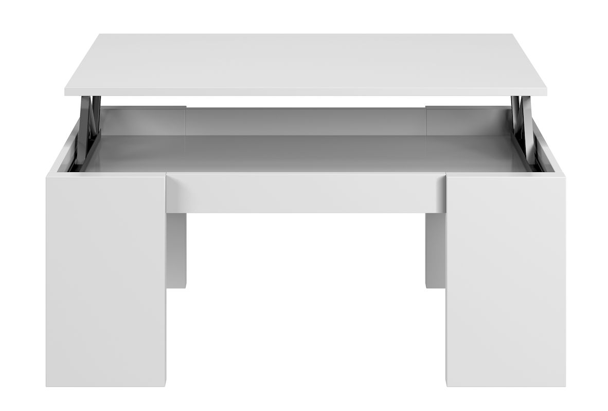 Mesa Centro elevable Flow Blanco Brillo