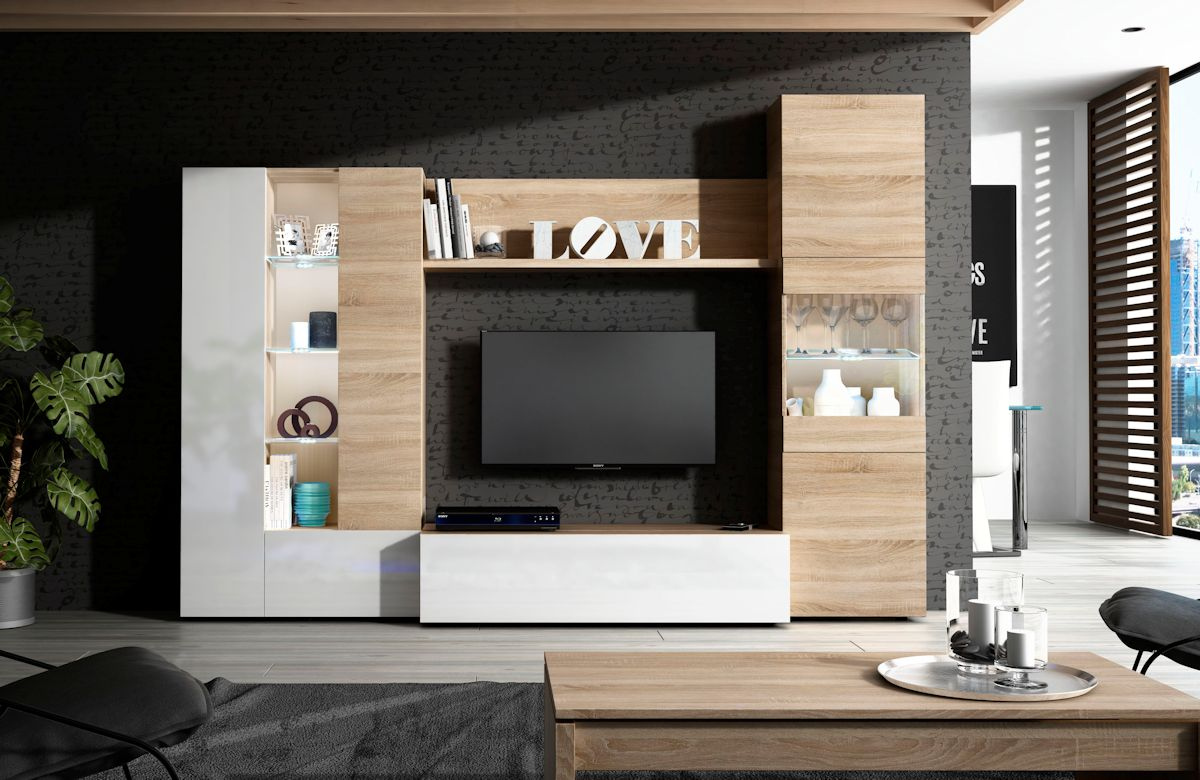 Mueble Salon TV Roble