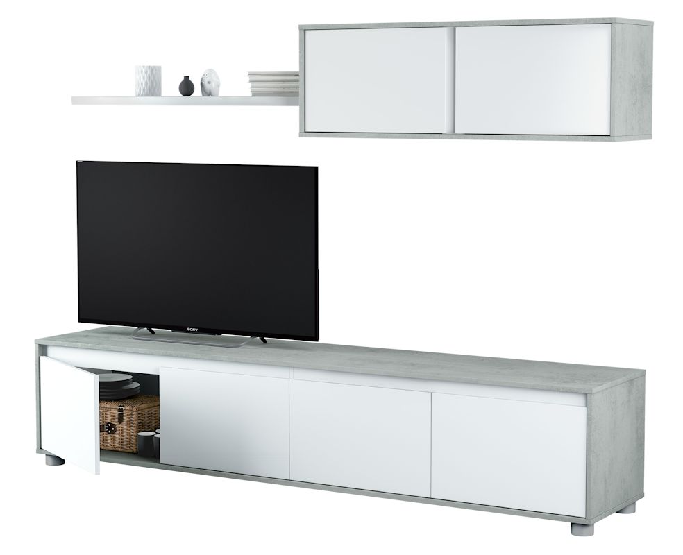 Mueble Salon TV Cemento
