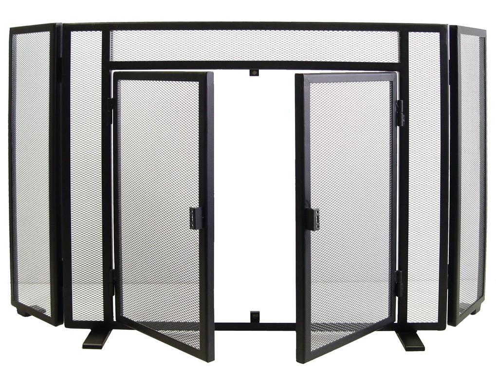 10405 salvachispas plegable con puertas negro imex 10405 - Salvachispas para chimeneas ...