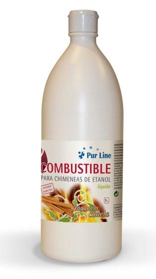 Combustible natural aroma canela 12 botellas 1l liq - Chimeneas de biocombustible ...