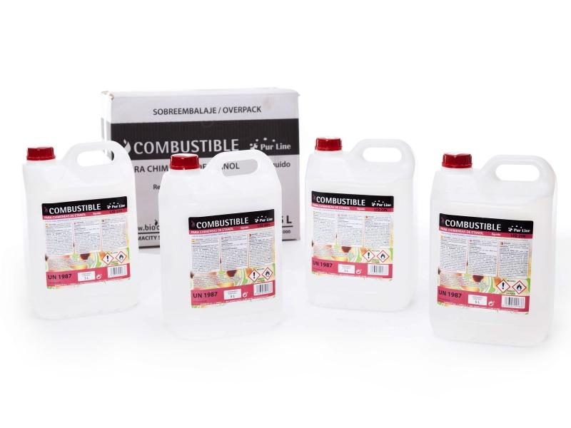 Combustible natural liquido 4 garrafas 5l liq 20n - Chimeneas de biocombustible ...